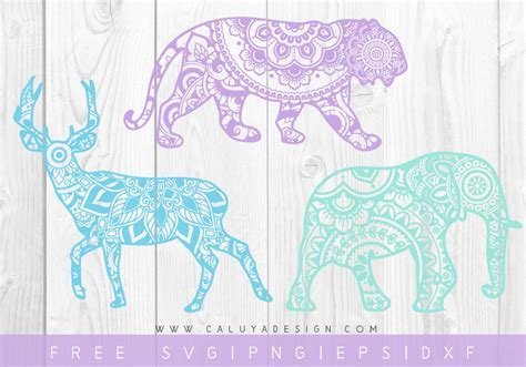 Head over to download your free svg files today. Free Mandala Animal SVG, PNG, DXF & EPS Cut File Download