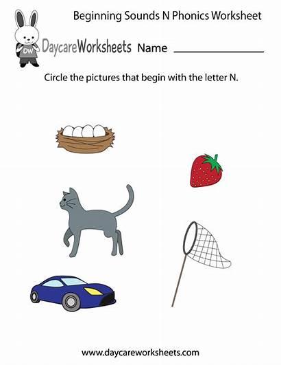 Letter Beginning Phonics Worksheet Objects Common Names