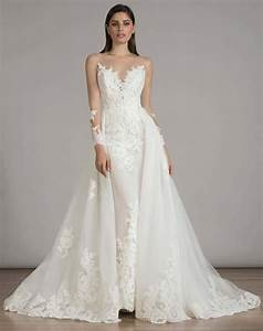 15 pretty perfect overskirt wedding dresses aisle perfect for Overskirt wedding dress