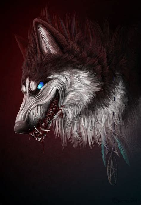 dog wolf werewolf art anime wolf anime wolf drawing