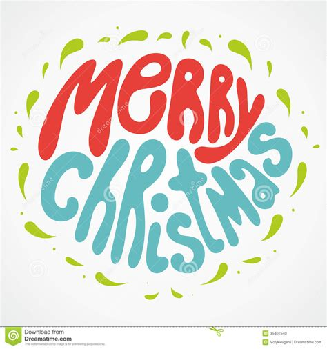 merry christmas lettering image 35407540