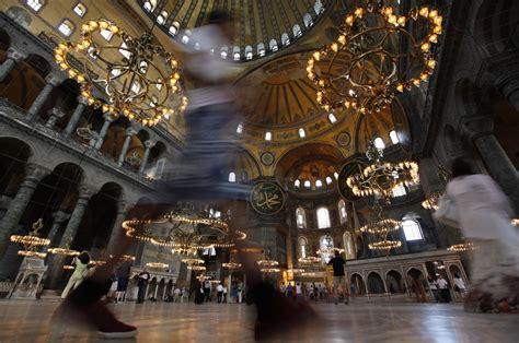 turkey  turn ancient hagia sophia church   mosque