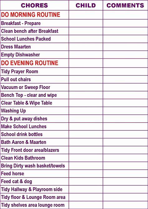 chore calendar  family   family chore charts