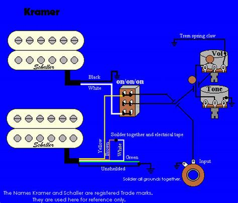 Wiring Diagram Kramer Image by Non Functional Tone Pot Talkbass