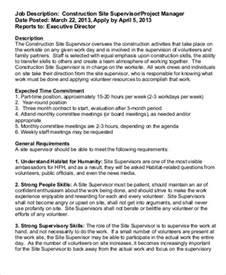Construction Manager Job Description Sample