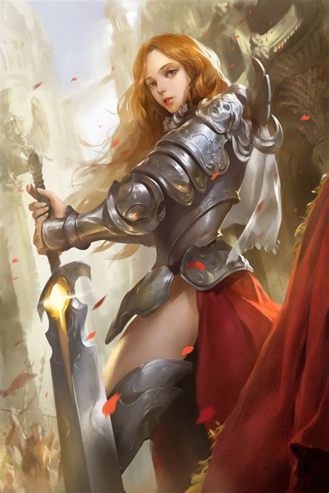 anime anime girls warrior wallpapers hd desktop