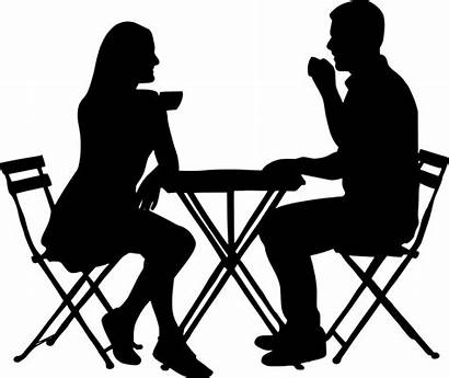 Silhouette Sitting Coffee Transparent Couple Pixabay Wife