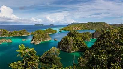Indonesia Islands Raja Ampat Exotic Wallpapers Ocean