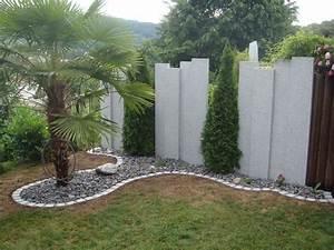 Sichtschutz granitstelen sichtschutz sichtschutz for Terrassen sichtschutz ideen