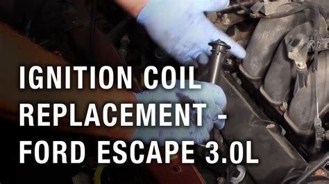 ignition coil replacement ford escape  youtube
