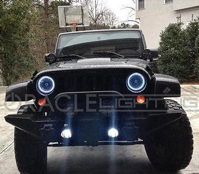 jeep halo lights oracle halo lights for jeep wrangler 2007 2017 jeep