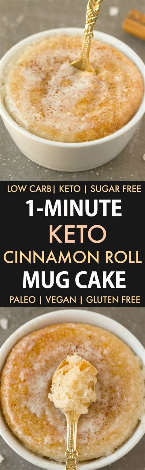 Healthy 1 Minute Low Carb Keto Mug Cakes (Paleo, Vegan