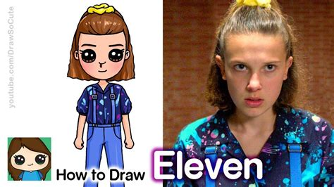 How To Draw Eleven from Stranger Things 3   Desenhos ...