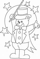 Circus Coloring Pages Colouring Bear Ringmaster Printable Clown Magician Theme Teddy Carnival Sheets Preschool Crafts Activities Animal Para Printables Lion sketch template