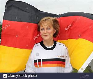 A wax figure of German chancellor Angela Merkel in German ...