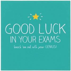 Happy Jackson Good Luck In Your Exams Card | Jackson ...