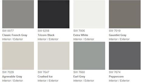 fashion grey paint gray pantone swatches shades of grey