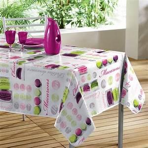 Nappe Cirée Rectangulaire : nappe cir e rectangulaire l240 cm macarons rose nappe de table eminza ~ Teatrodelosmanantiales.com Idées de Décoration