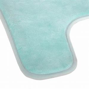 Tapis Vert D Eau : tapis contour wc m moire 45x50cm vert d 39 eau ~ Teatrodelosmanantiales.com Idées de Décoration