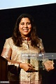 Director Nisha Ganatra accepts the Outfest Fusion ...
