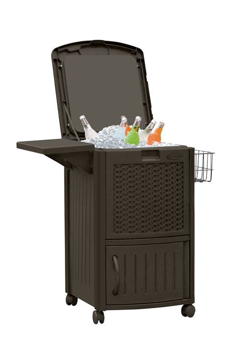 Suncast Resin Wicker Cooler with Cabinet   Outdoor Living