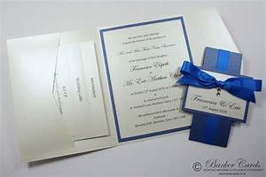 royal blue cobalt blue and cream ivory pocketfold With royal blue and cream wedding invitations