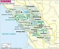 Sonoma County Map, Map of Sonoma County, California