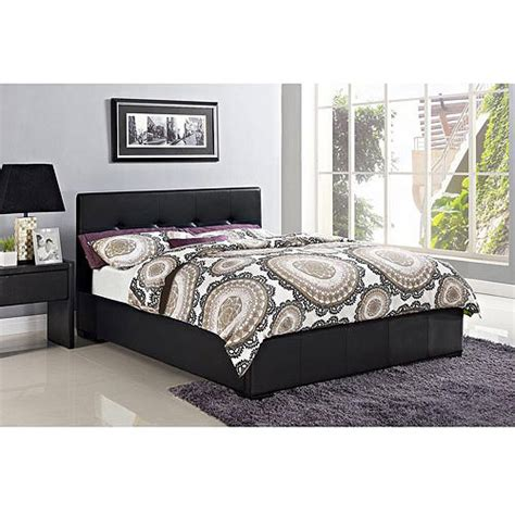novara full faux leather upholstered bed with headboard