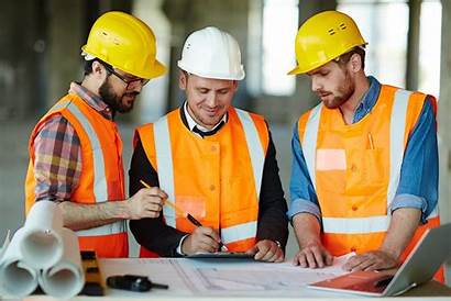Construction Manager Subcontractors Team Workers Management Worker