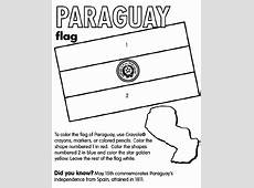 Paraguay Coloring Page crayolacom