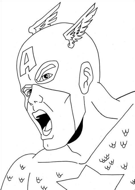 Kaptain Amerika Kleurplaat by Kleurplaat Superhelden Kleurplaat Captain America