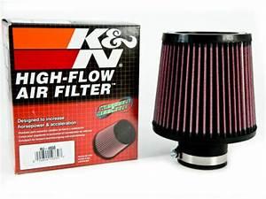 K U0026n Universal 2 5 U0026 39  U0026 39  Air Intake Cone Filter 64mm Ru