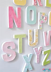 how to make your own letter wall the love nerds With paper alphabet letters for wall