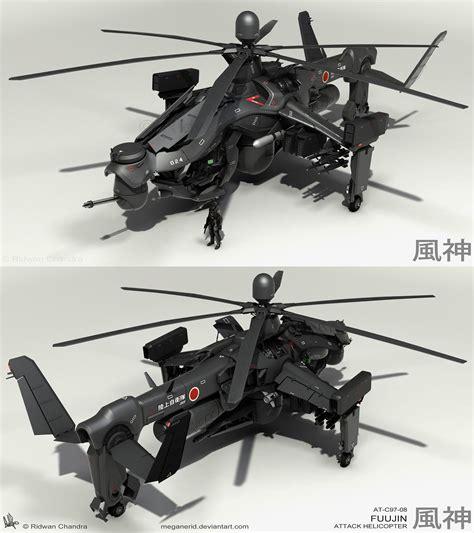 Fuujin Attack Helicopter Renders 3 By Meganerid On Deviantart