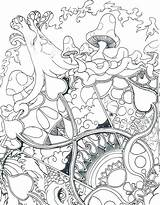 Mushroom Coloring Trippy Pages Printable Getcolorings Colo sketch template