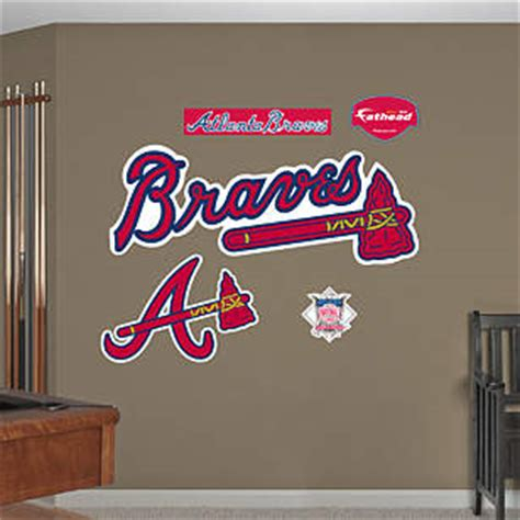 Be sure to decorate your space with only the best braves wall decor from mlb shop. Atlanta Braves Logo Wall Decal   Shop Fathead® for Atlanta Braves Decor