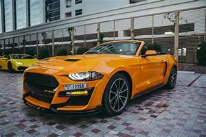 Rent Ford Mustang Convertible V4 2019 car in Dubai: Day, monthly rental