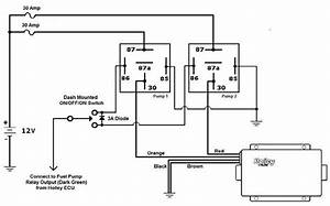 Holley Fuel Pump Relay Wiring Diagram