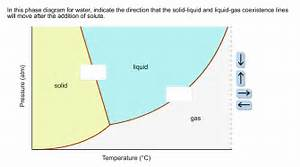 Solved  In This Phase Diagram For Water  Indicate The Dire
