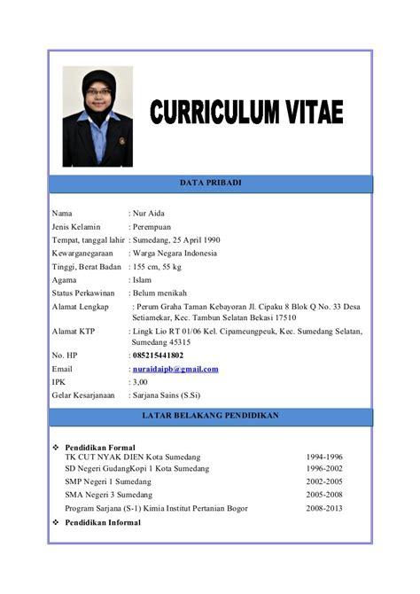 contoh curriculum vitae yang baik ben jobs