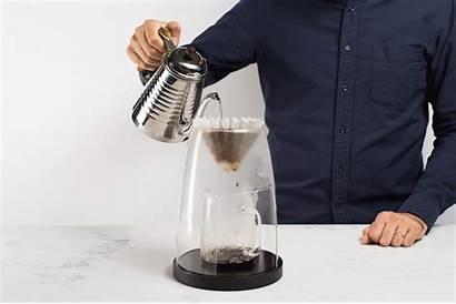 Manual Unique Coffee Pour Glass Coffeemaker Into
