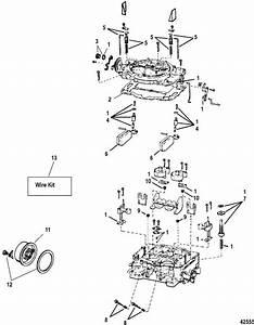 Mercruiser 350 Alpha  4 Barrel  Crate Engine Carburetor