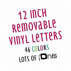 12quot 12 inch wall safe letters stickers decals lettering With sign with removable letters