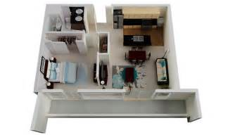 Kitchen Island As Dining Table 50 One 1 Bedroom Apartment House Plans Architecture Design