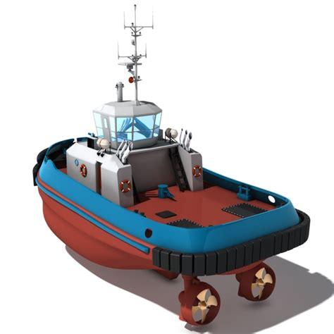 Tugboat Training by Tug Boat 3d Model