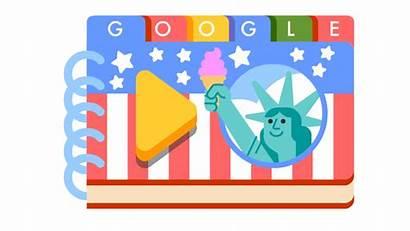 July Doodles Fourth Google