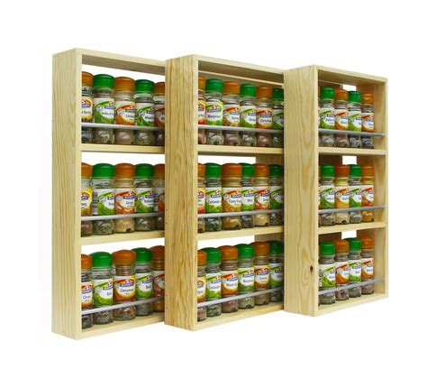 spice rack solid pine spice rack 3 shelves kitchen worktop wall