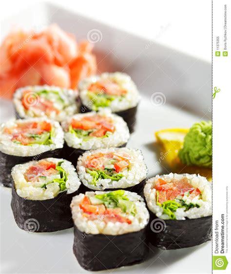 cuisine stock japanese cuisine maki sushi stock image image 11375355