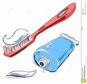 Cute Cartoon Toothbrush And Toothpaste