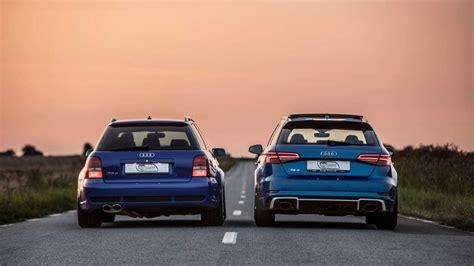 Audi Rs4 Sportback by 2018 Audi Rs3 Sportback Vs 2001 Audi Rs4 Avant Motor1